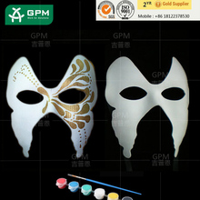 handcuffs whip mask Paper Women's Venetian mask: White/Papers for masquerade ball Mardis Gras party