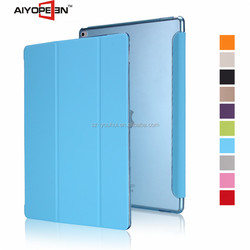 Wholesale Fashion leather pu Case smart cover for ipad pro back PC auto sleep case 12.9''