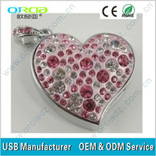 Fashion Jewelry/Love heart USB 2GB Flash Memory Drives in bulk