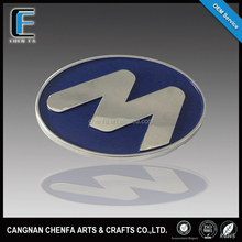 New arrival 3D adhesive chrome plating ABS plastic round car emblem badge logo stickers