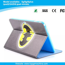 Cool superrman pattern leather case for iPad 2/3/4 with Credit Card Slots & Holder