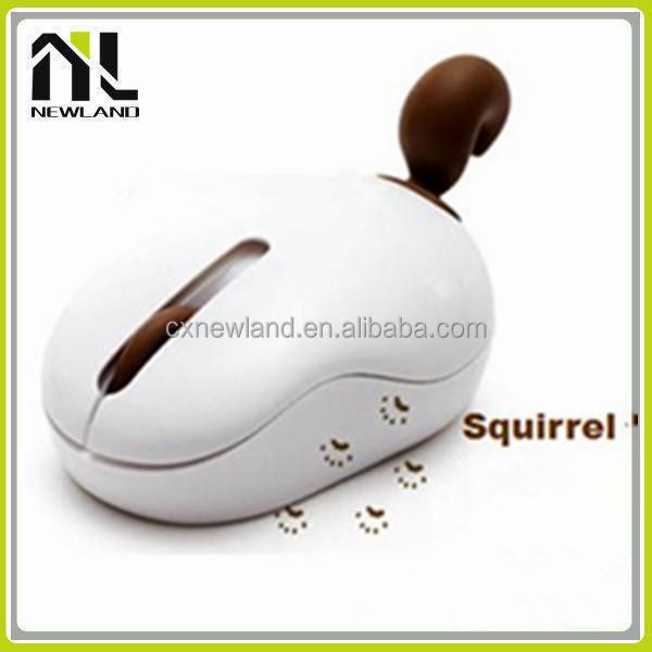 Funny gift animal tail fox latest model usb cheap 2.4g custom animal cute computer mouse