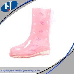 Latest made in China girls low heel boots