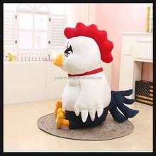 big white stuffed plush chicken toy