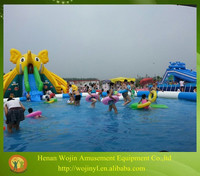 Theme inflatable commercial water park games for adults