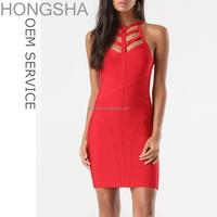 Western Party Wear Bodycon Bandage Dress 2015 Designer One Piece Women Party Dress HSD1217