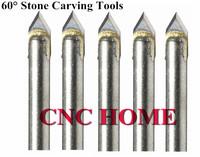 10 шт 60 градусов 6 мм хвостовик твердосплавные инструменты камень фрезы гравировальные инструменты для маршрутизатора