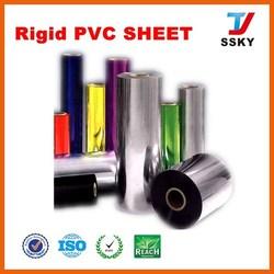 Rigid clear plastic PVC sheet