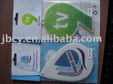 Favorites Compare 2015 new car scent custom make hanging paper car air freshener wholesale