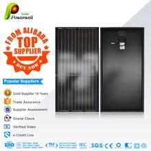 Powerwell Solar 200w Mono Black Solar Panel With CE/IEC/TUV/ISO/CEC/INMETRO Approval Standard Top Supplier Solar Kits