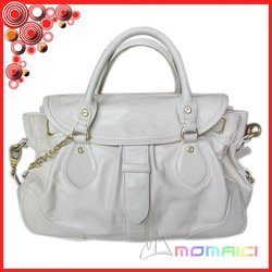 100% top layer AAA Genuine Leather lvory color fashion ladies handbags designer brand 2013 new