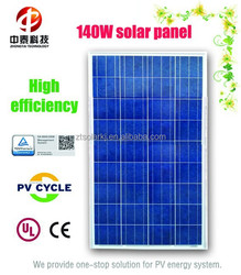 High efficiency polycrystalline silicon 140W solar panel