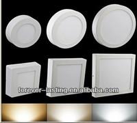 SMDLED 2835 Round Square Shape Surface Mounted Square 6W12W 18W led panel lighting warm white pure white