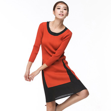 Qingda Factory OEM Elegant Ladies Drape Dressess Wholesale Pleats Clothes Women's Wear fashion Long Sleeve Pleated Dress