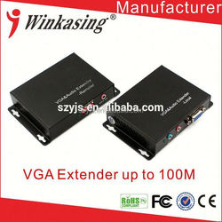 Manufacture direct price good quality OEM VGA signal transmitter extender 100m in aluminum shell