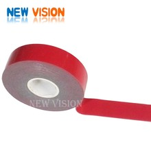 Fantastic crystal clear double sided acrylic foam tape red realease liner/film grey foam 3M tape