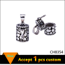 Antique silver 1.40cm width 2.90cm height big pendant to put ash