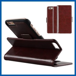 C&T Detachable Card Slot Holder Folio Wallet Leather case for iphone 5