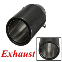 2015 Brand New 90mm Outlet Dia 60mm Inlet Dia Carbon Fiber Exhaust Muffler Tip Pipe for BMW