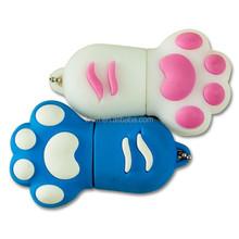 free shipping cute little feet shape multi-color usb flash memory pen drive gift