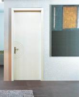 2014 Morden popular guangzhou 6 panel steel interior door with wooden