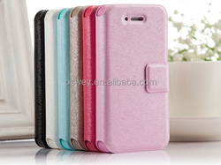 Luxury Flip Pocket PU Wallet Leather Case For iPhone 4 4S 5 5S 6 6Plus