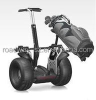 Electric golf scooter and two wheel scooter golf bracket golf bag