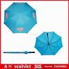Light blue auto open straight golf umbrellas wholesale