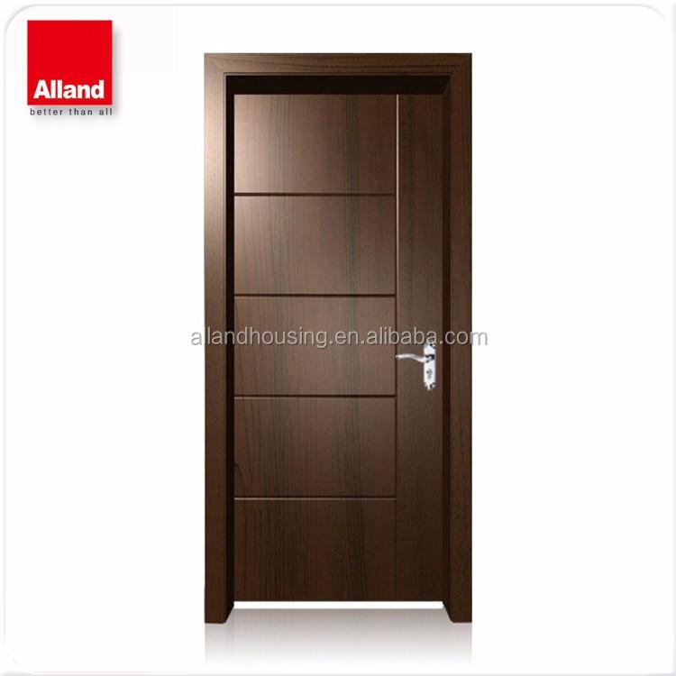 Dark Stained Brown Interior Oak Veneer Bedroom Door For Hotel Buy