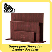 Quality Supplier Hotel Hall Popular Leather Antique Magazine Rack