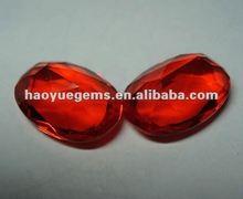 Fashion fine cubic zirconia AAAAA,synthetic gemstone egg cut CZ for jewelry/bead wholesale