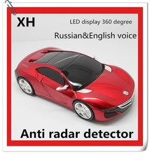 2015 best selling car accessories 360 degree Russian&English Speaker auto anti police radar detector for car speed limit conquer