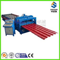 glavanised roofing step tile cold making machine, glazed tile roofing roll foming machine