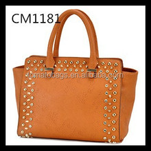 Celebrity fashion studded ladies satchel bag