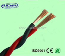 Professional Shenzhen factory 12/14/16AWG 100m/roll PVC insulation 2core copper speaker cable