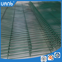 chain link wire fence green steel fence post