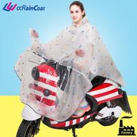eva women raincoat for biker in clear transparent color nice printing