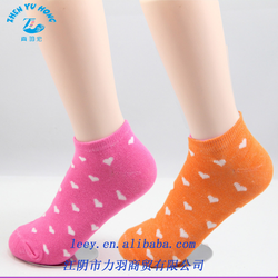 Pretty Girls Ankle Boat Socks With Bow and Dot 100% Pure Cotton Socks