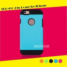 Comprare sfuso dalla cina pc tpu caso ibridi per iphone 6, accessori mobili per iPhone 6 caso telefono con 13 colori