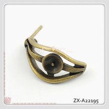 Eye Shape Filigree Earring Findings