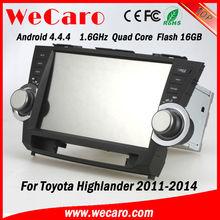 Wecaro touch screen car dvd playerfor toyota highlander 2012 2012 dashboard TV Radio tuner CD Player
