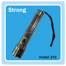 led solar torches,rechargeable led torch use AC charge&solar power