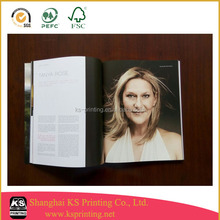 Glossy art paper magazine printing with customized design