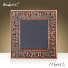 China Alibaba Wallpad Luxury Zinc Alloy Panel 16A 110-250V 1 Gang 1 Way UK Standard Lamp Push Button Swtich Light Wall Switch