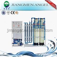 Jiangmen angel caliente vender 100-2000l/h destilada de tratamiento de agua equipo