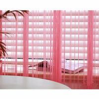Christmas Wholesale 3m x 3m Hot Pink Window Door Room Home Decor Tassel Drape Panel Strings Curtain