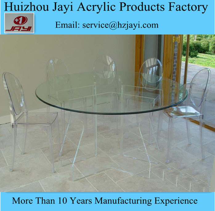 jyt 034 usine gros plexiglas cheap ronde table manger et chaises table manger en verre 6. Black Bedroom Furniture Sets. Home Design Ideas