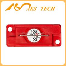 Drop N Tell Shock label/ indicator / adhesive label holder