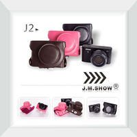 Soft PU Leather Camera Case for Nikon J2 Camera with 10mm Prime Lens and 10-30mm/11-27.5mm Lens