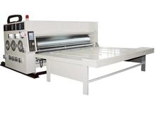 chain feeding 2 color flexo printing and slotting machine / used flexo printer slotter for sale